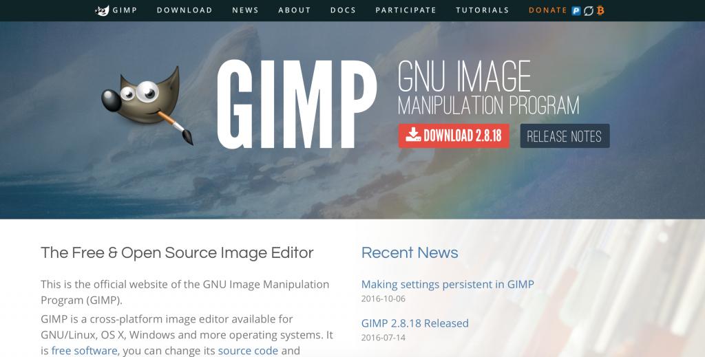 gimp おすすめ画像編集ソフト